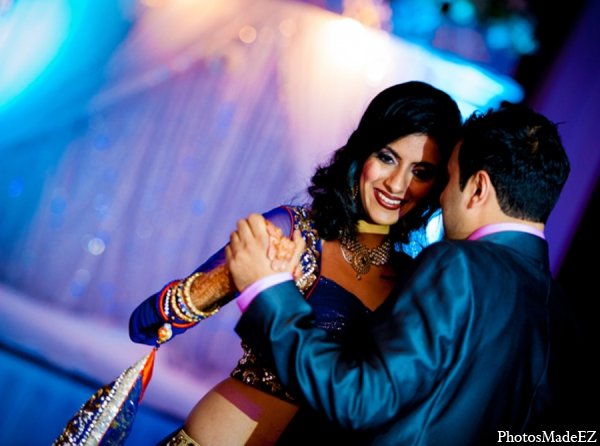 Indian wedding reception fashion lighting