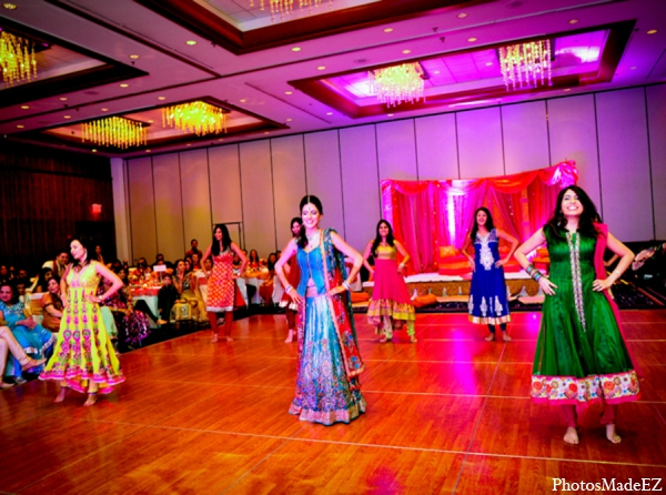 Indian wedding reception tradition dancing