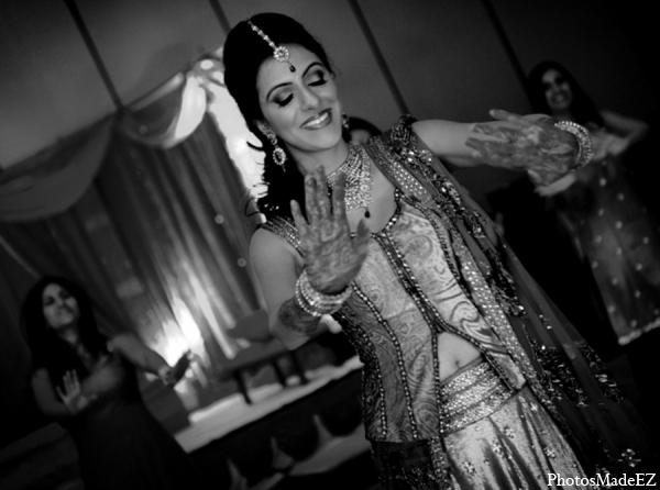 Indian wedding sangeet bride fashion