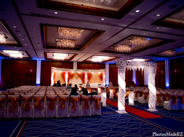Indian wedding venue mandap lighting