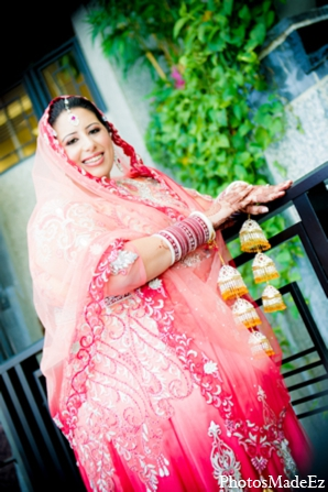 Indian wedding bridal lengha in Philadelphia, Pennsylvania Sikh Wedding by PhotosMadeEz