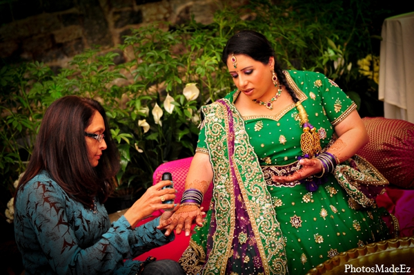 Indian wedding bridal mehndi glitter in Philadelphia, Pennsylvania Sikh Wedding by PhotosMadeEz