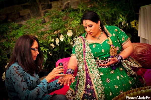 Indian wedding bridal mehndi glitter in Philadelphia, Pennsylvania Sikh Wedding by PhotosMadeEz