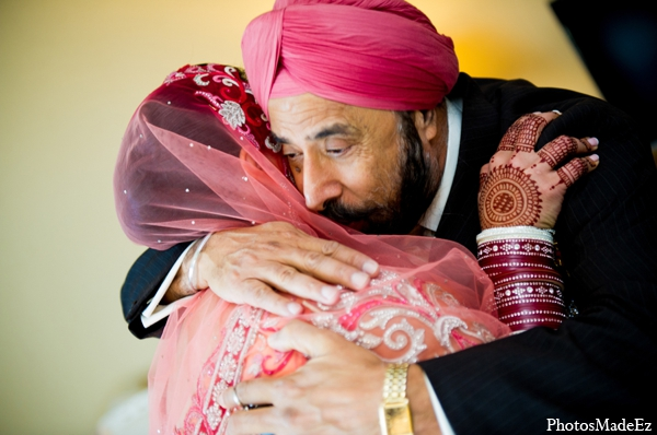 Indian wedding bride father tradition in Philadelphia, Pennsylvania Sikh Wedding by PhotosMadeEz
