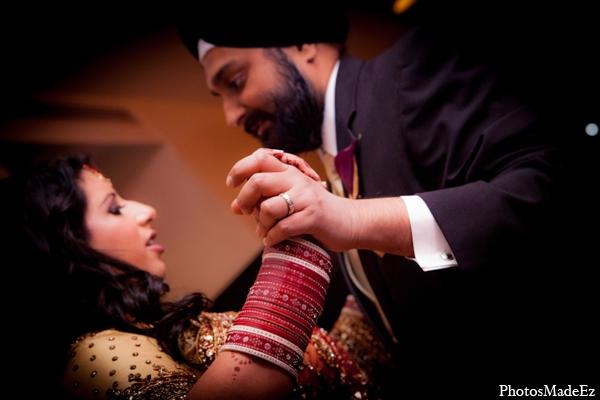 Indian wedding bride groom dance in Philadelphia, Pennsylvania Sikh Wedding by PhotosMadeEz