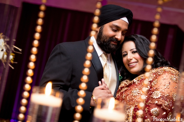 Indian wedding bride groom photo portrait in Philadelphia, Pennsylvania Sikh Wedding by PhotosMadeEz
