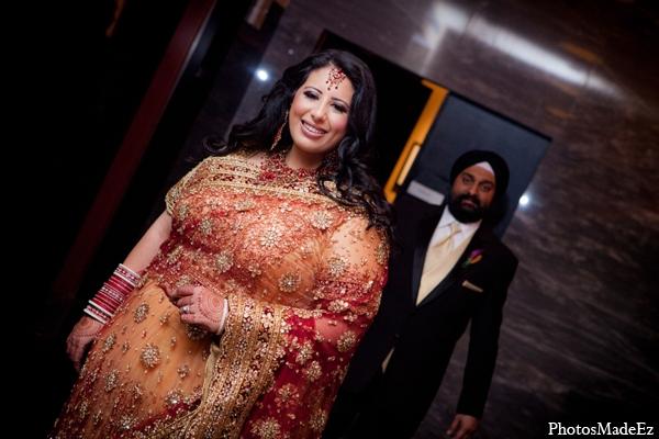 Indian wedding bride groom photos in Philadelphia, Pennsylvania Sikh Wedding by PhotosMadeEz