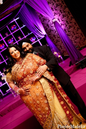 Indian wedding bride groom portrait in Philadelphia, Pennsylvania Sikh Wedding by PhotosMadeEz