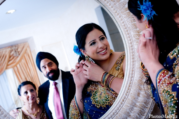 Indian wedding bride hair makeup jewelry in Philadelphia, Pennsylvania Sikh Wedding by PhotosMadeEz