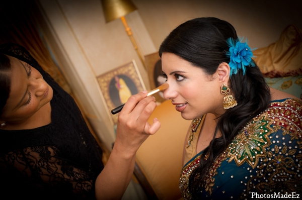 Indian wedding bride hair makeup in Philadelphia, Pennsylvania Sikh Wedding by PhotosMadeEz