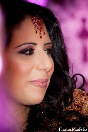 Indian wedding bride hair in Philadelphia, Pennsylvania Sikh Wedding by PhotosMadeEz