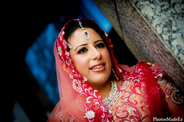 Indian wedding bride makeup jewelry in Philadelphia, Pennsylvania Sikh Wedding by PhotosMadeEz