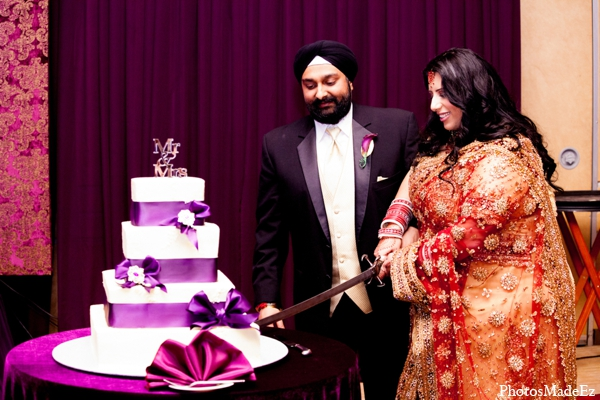 Indian wedding cake bride groom saber in Philadelphia, Pennsylvania Sikh Wedding by PhotosMadeEz