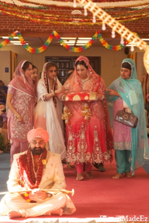 Indian wedding ceremony bride mandap in Philadelphia, Pennsylvania Sikh Wedding by PhotosMadeEz