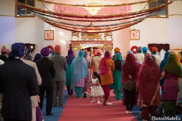 Indian wedding ceremony traditional mandap in Philadelphia, Pennsylvania Sikh Wedding by PhotosMadeEz