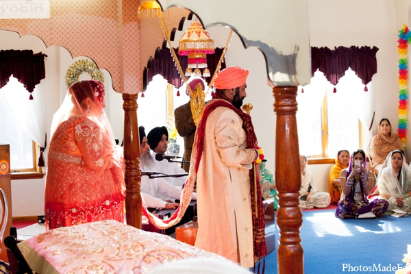 Indian wedding ceremony traditional in Philadelphia, Pennsylvania Sikh Wedding by PhotosMadeEz