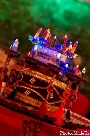 Indian wedding decor lighting in Philadelphia, Pennsylvania Sikh Wedding by PhotosMadeEz