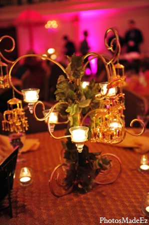 Indian wedding floral decor lighting in Philadelphia, Pennsylvania Sikh Wedding by PhotosMadeEz