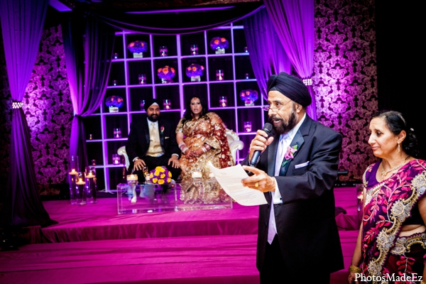 Indian wedding floral lighting decor in Philadelphia, Pennsylvania Sikh Wedding by PhotosMadeEz