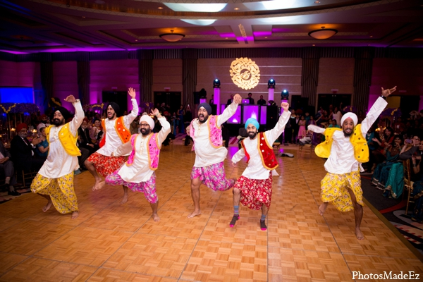 Indian wedding reception bollywood dancers in Philadelphia, Pennsylvania Sikh Wedding by PhotosMadeEz