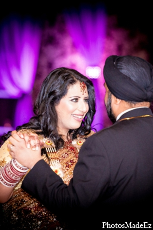 Indian wedding reception bride groom in Philadelphia, Pennsylvania Sikh Wedding by PhotosMadeEz