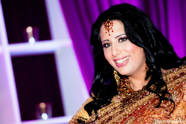 Indian wedding reception bride hair makeup in Philadelphia, Pennsylvania Sikh Wedding by PhotosMadeEz