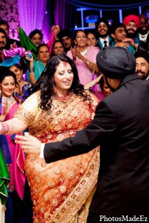 Indian wedding reception bride lengha in Philadelphia, Pennsylvania Sikh Wedding by PhotosMadeEz