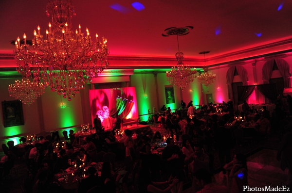 Indian wedding sangeet lighting design in Philadelphia, Pennsylvania Sikh Wedding by PhotosMadeEz
