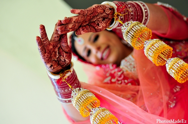 Indian wedding traditional bridal mehndi in Philadelphia, Pennsylvania Sikh Wedding by PhotosMadeEz