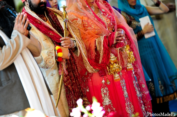 Indian wedding traditional bride groom in Philadelphia, Pennsylvania Sikh Wedding by PhotosMadeEz