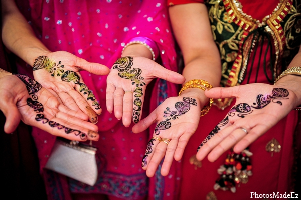 Indian wedding traditional mehndi glitter in Philadelphia, Pennsylvania Sikh Wedding by PhotosMadeEz