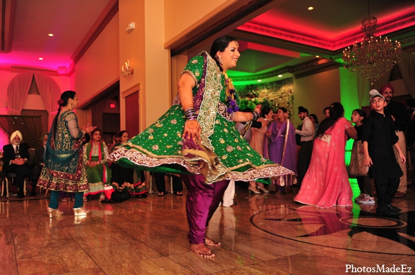 Indian wedding traditional sangeet outfit in Philadelphia, Pennsylvania Sikh Wedding by PhotosMadeEz