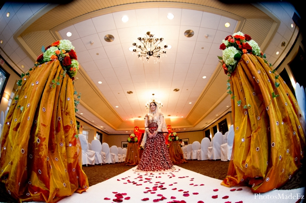 Indian wedding ceremony venue design floral in Eatontown, New Jersey Indian Wedding by PhotosMadeEz