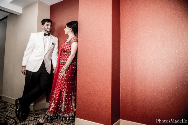 Indian wedding,Cinematography,red,white,bridal fashions,indian wedding portraits,bride and groom portraits,couple's portrait,indian reception dress,traditional reception dress