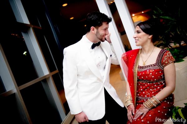 Indian Wedding Bride Groom Portraits In Eatontown New Jersey