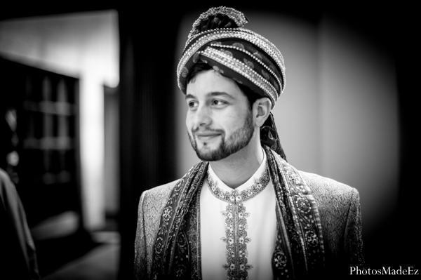 Indian wedding groom traditional ceremony dress in Eatontown, New Jersey Indian Wedding by PhotosMadeEz