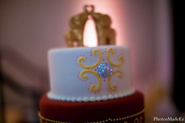 Indian wedding reception cake traditional in Eatontown, New Jersey Indian Wedding by PhotosMadeEz