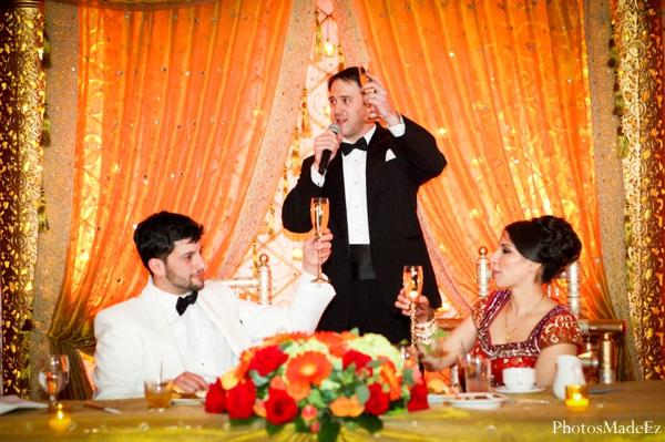 Indian wedding bride groom sweethearts table in Eatontown, New Jersey Indian Wedding by PhotosMadeEz