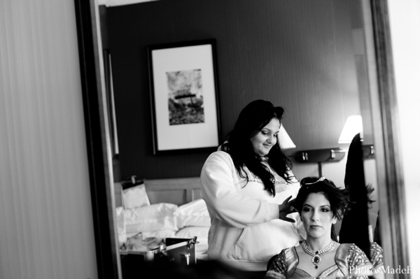 Indian wedding bride hair and makeup in Eatontown, New Jersey Indian Wedding by PhotosMadeEz