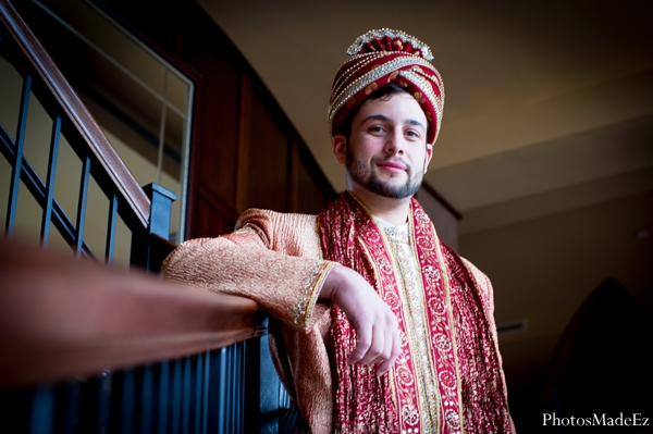 Indian wedding groom traditional dress in Eatontown, New Jersey Indian Wedding by PhotosMadeEz