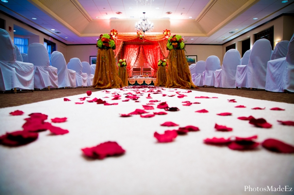 Indian wedding ceremony venue floral decor in Eatontown, New Jersey Indian Wedding by PhotosMadeEz
