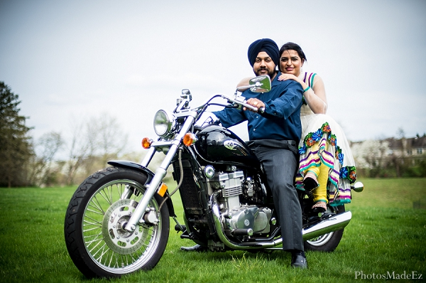 Indian wedding engagement photos bride groom