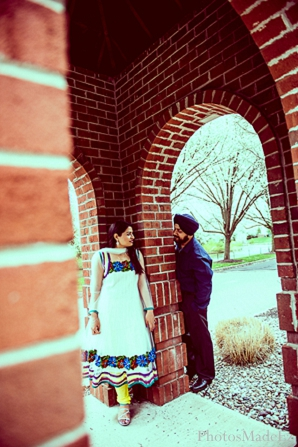 Indian wedding engagement session portraits bride groom