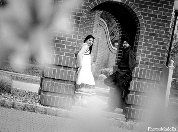 Engagement indian wedding black white portraits in Sunday Sweetheart Winners ~ Pooja & Jassi by PhotosMadeEz