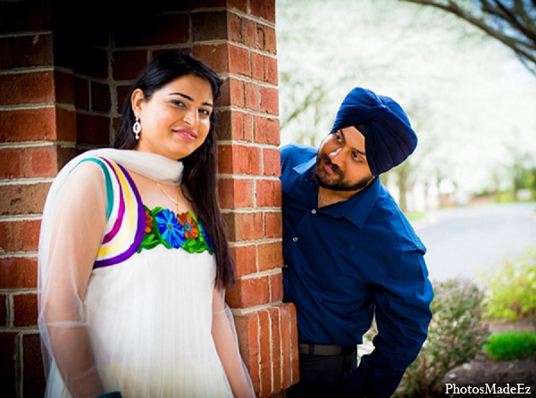 Engagement indian wedding bride groom in Sunday Sweetheart Winners ~ Pooja & Jassi by PhotosMadeEz