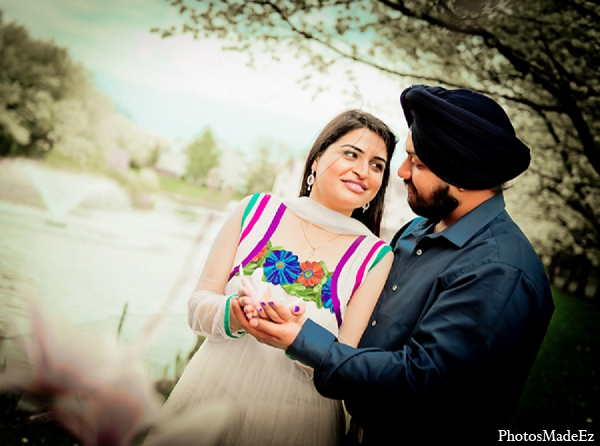 Engagement indian wedding groom bride in Sunday Sweetheart Winners ~ Pooja & Jassi by PhotosMadeEz