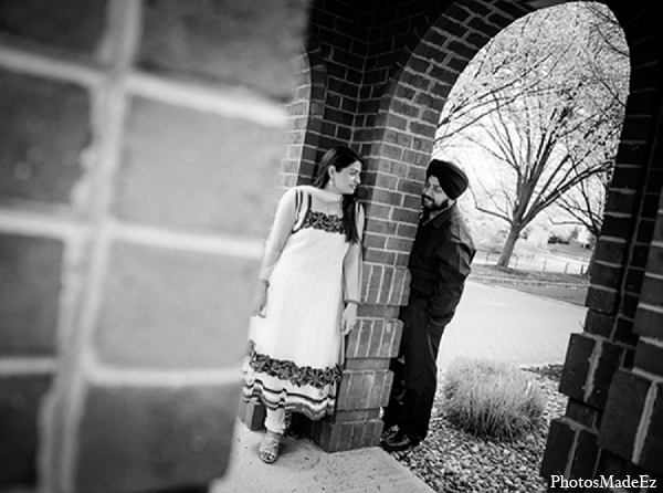 Engagement indian wedding photography black white in Sunday Sweetheart Winners ~ Pooja & Jassi by PhotosMadeEz