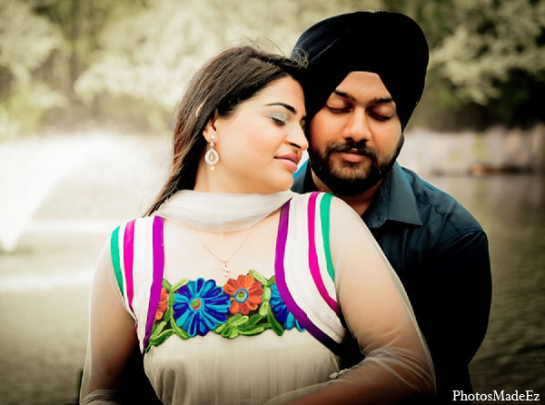 Engagement indian wedding portraits bride in Sunday Sweetheart Winners ~ Pooja & Jassi by PhotosMadeEz