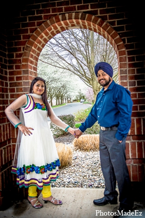 Engagement wedding indian bride groom in Sunday Sweetheart Winners ~ Pooja & Jassi by PhotosMadeEz