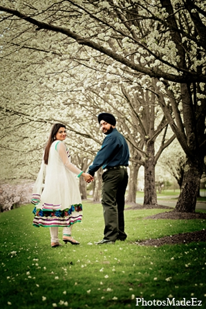 Indian-bride-groom-engagement-portraits in Sunday Sweetheart Winners ~ Pooja & Jassi by PhotosMadeEz